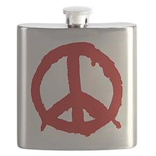 peaceSign01D Flask