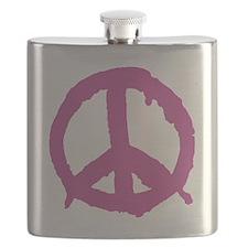 peaceSign01G Flask