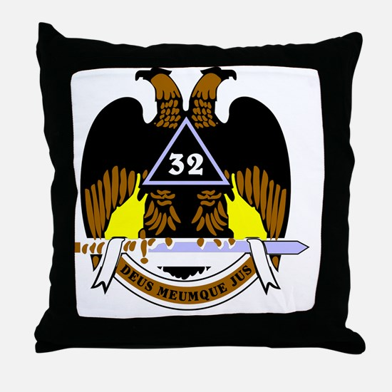 Scottish Rite: 32 Throw Pillow