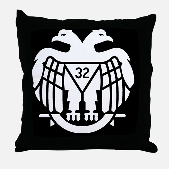 Dark Scottish Rite Throw Pillow
