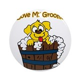 Dog groomer Round Ornaments