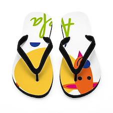 Adela-the-goat Flip Flops