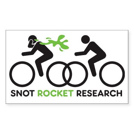 snot rocket black Sticker (Rectangle)
