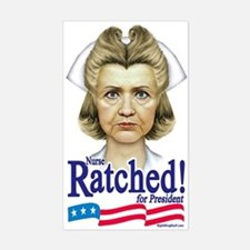 Nurse Hillary Ratched Rectangle Decal