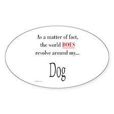 Dog World Oval Decal