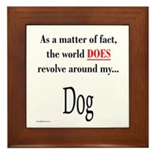 Dog World Framed Tile