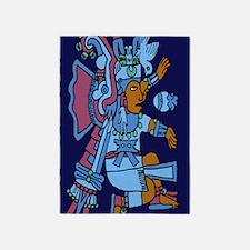 Xiuhtecuhtli Aztec God of Water 23  5'x7'Area Rug
