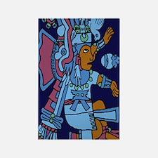 Xiuhtecuhtli Aztec God of Water 2 Rectangle Magnet