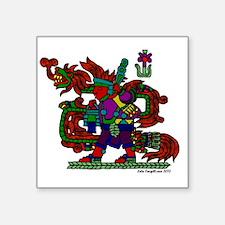 """quetzal white t Square Sticker 3"""" x 3"""""""