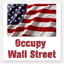 "occupy Square Car Magnet 3"" x 3"""
