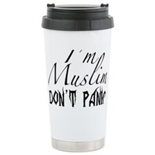 Im Muslim DONT PANIC Travel Mug