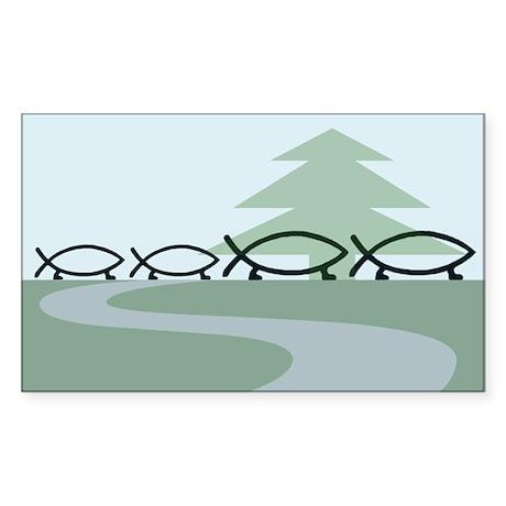 Family of 4 Evolution Rectangle Sticker