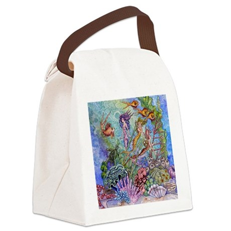 mermaids Canvas Lunch Bag
