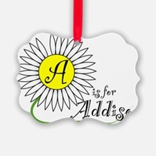 A is for Addison Ornament
