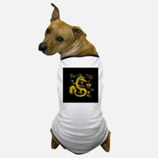 YOTD Gold 3D Black Back Clock Dog T-Shirt