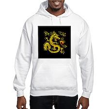 YOTD Gold 3D Black Back Clock Jumper Hoody
