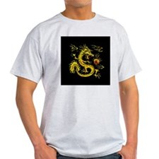 YOTD Gold 3D Black Back Clock T-Shirt