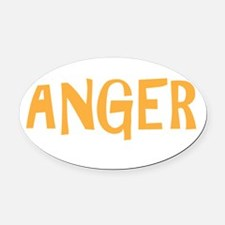 ANGERdrk Oval Car Magnet