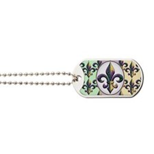 FleurMGbdsPcOfLaptp Dog Tags