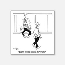 "6153_inspector_cartoon Square Sticker 3"" x 3"""