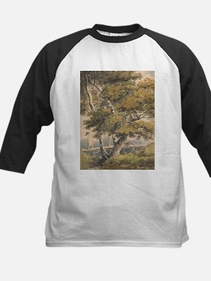 Trees, with a Man Crossing a Footbridge - Paul San