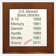 US Manned Space Vehicles Framed Tile