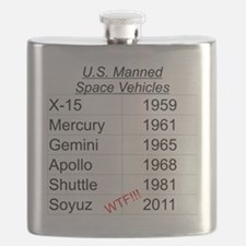 US Manned Space Vehicles Flask