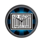 Alien Abduction Priceless Barcode Wall Clock