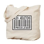 Alien Abduction Priceless Barcode Tote Bag