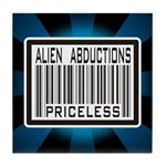 Alien Abduction Priceless Barcode Tile Coaster