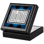 Alien Abduction Priceless Barcode Keepsake Box