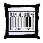 Alien Abduction Priceless Barcode Throw Pillow