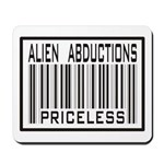 Alien Abduction Priceless Barcode Mousepad