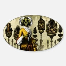 The Bride of the Headless Horseman  Sticker (Oval)