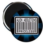 Alien Abduction Priceless Barcode Magnet