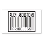 Alien Abduction Priceless Barcode Sticker (Rectang