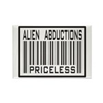 Alien Abduction Priceless Barcode Rectangle Magnet