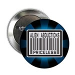 Alien Abduction Priceless Barcode Button
