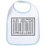 Alien Abduction Priceless Barcode Bib