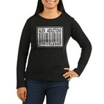 Alien Abduction Priceless Barcode Women's Long Sle