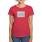 Alien Abduction Priceless Barcode Women's Dark T-S