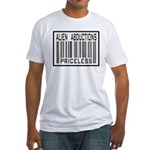 Alien Abduction Priceless Barcode Fitted T-Shirt