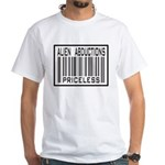 Alien Abduction Priceless Barcode White T-Shirt