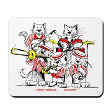 Jazz Cats Trans Back Mousepad