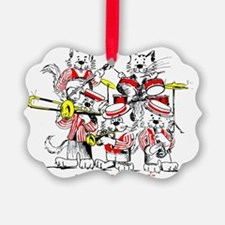 Jazz Cats Trans Back Ornament
