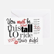 You Must Be This Tall Greeting Card