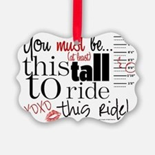 You Must Be This Tall Ornament