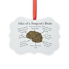 Atlas of a Surgeons Brain Ornament
