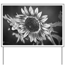 Black and White Sunflower Yard Sign