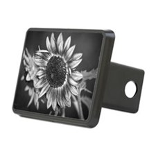 Black and White Sunflower Hitch Cover